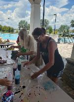 Tie Dying and National Night Out Photo Thumbail